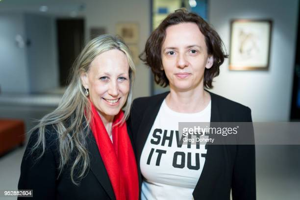 Executive Director of the Los Angeles Jewish Film Festival Hilary Helstein and Associate Director Magda Strehlau attend the screening of 'Seeing...