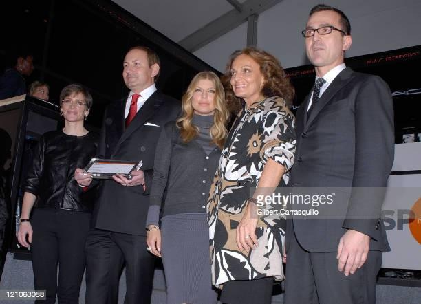 Executive Director Of The MAC AIDS Fund Nancy Mahon Global President MAC Cosmetic John Demsey Grammy Award Winner Fergie President Of CFDA Diane Von...