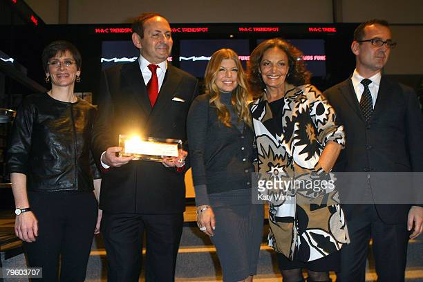 Executive Director of the MAC AIDS Fund Nancy Mahon Global President MAC Cosmetics John Demsey Singer Fergie Designer Diane Von Furstenberg and...