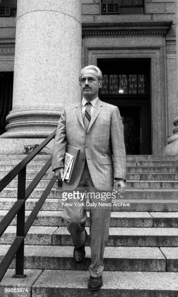 Executive director of the Major League Baseball Players Association Marvin Miller enroute to Federal Court where Curt Flood's antitrust suit against...
