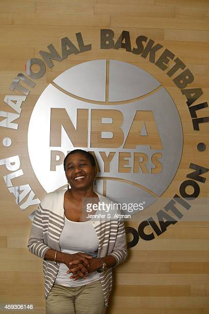 Executive director of the National Basketball Player's Association Michele Roberts is photographed for Washington Post on November 7 2014 in Harlem...