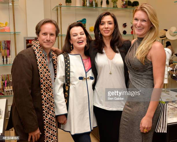 Executive Director of the National YoungArts Foundation Paul T Lehr actresses Debi Mazar and Drena De Niro with cohost Sarah Arison at YoungArts New...