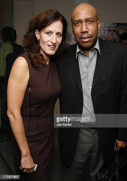 Executive Director of the New York Chapter Elizabeth Healy and Eulis Chehey of XM Satellite Radio attend the New York Chapter of the National Academy...