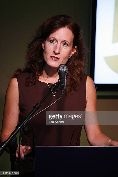 Executive Director of the New York Chapter Elizabeth Healy speaks at the New York Chapter of the National Academy of Recording Arts and Sciences Open...