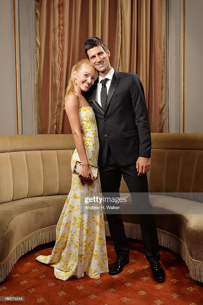 Executive Director of the Novak Djokovic Foundation Jelena Ristic and Founding Chairman of the Novak Djokovic Foundation Novak Djokovic attend The Novak Djokovic Foundation New York Dinner at Capitale on September 10, 2013 in New York City.