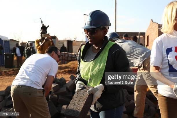 Executive Director of the Players Association Michelle Roberts during a NBA Cares and NBPA Foundation Service Project with Habitat for Humanity as...