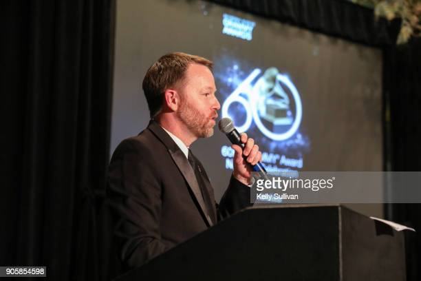 Executive Director of the Recording Academy San Francisco Chapter Michael Winger speaks onstage at the San Francisco 60th GRAMMY Award Nominee...