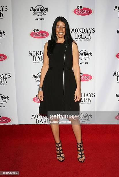 Executive director of the Rudy Foundation Cheryl Ruettiger arrives at Mondays Dark one year anniversary bash at The Joint inside the Hard Rock Hotel...