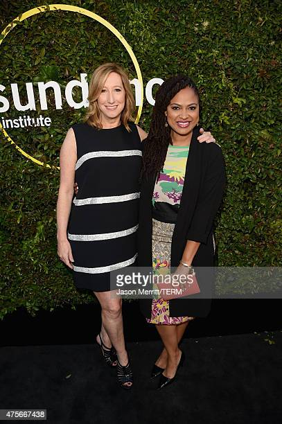 Executive Director of the Sundance Institute Keri Putnam and director Ava DuVernay attend the 2015 Sundance Institute Celebration Benefit at 3LABS on...