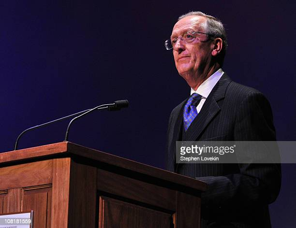 """Executive director of the UN office on drugs and crime Antonio Maria Costa attends the world premiere of """"Not My Life"""" at Alice Tully Hall on January..."""