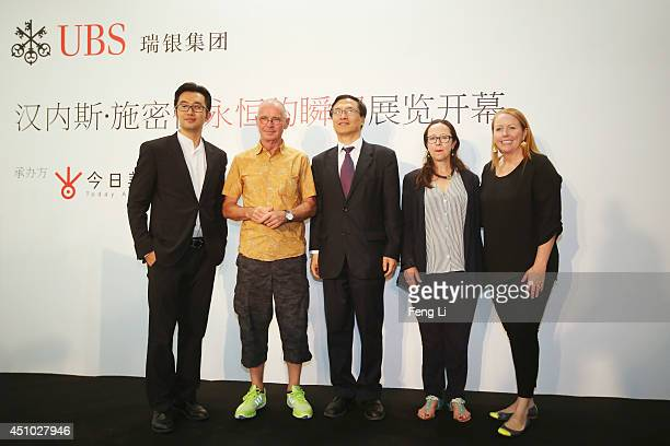 Executive Director of Today Art Museum Alex Gao, Swiss artist photographer Hannes Schmid, Managing Director of UBS Securities Co. Limited Cheng...