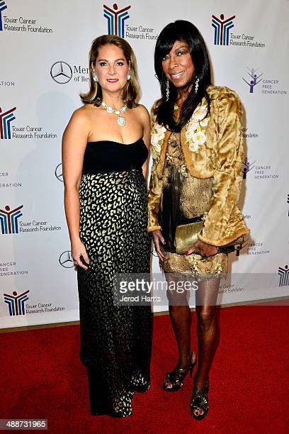 Executive director of Tower Cancer Research Linda David and Natalie Cole attend Tower Cancer Research Foundation's Tower of Hope Gala at The Beverly...