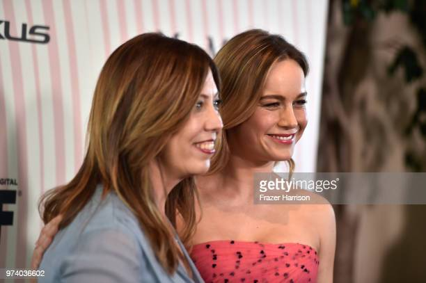 Executive Director of Women In Film Los Angeles Kirsten Schaffer wearing Max Mara and Brie Larson attend the Women In Film 2018 Crystal Lucy Awards...