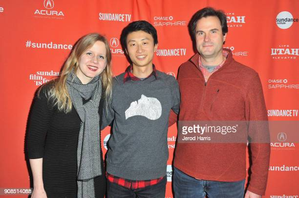 Executive director producer Justine Nagan director Bing Liu executive producer Chris White attend the Minding The Gap Premiere during the 2018...