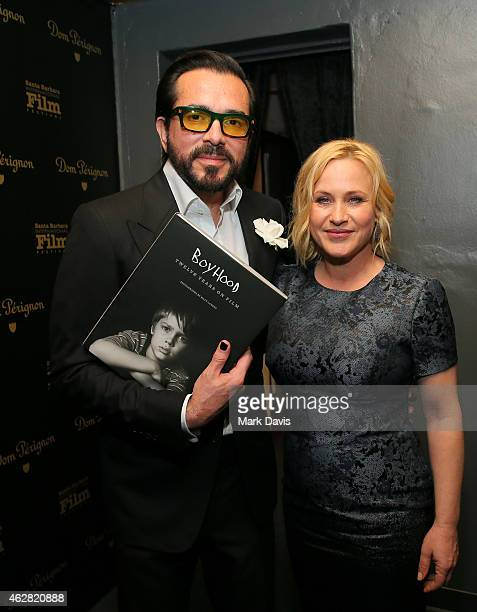 Executive Director Roger Durling and actress Patricia Arquette visit the Dom Perignon Lounge after the American Riviera Award at The Santa Barbara...