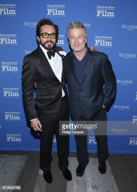 Executive Director Roger Durling and Alec Baldwin celebrate with Belvedere Vodka at Santa Barbara Film Festival's Opening Night at Arlington Theatre...