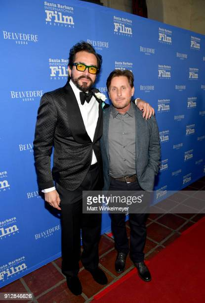 Executive Director Roger Durling and Emilio Estevez at the Opening Night Film 'The Public' Presented by Belvedere Vodka during the 33rd Santa Barbara...