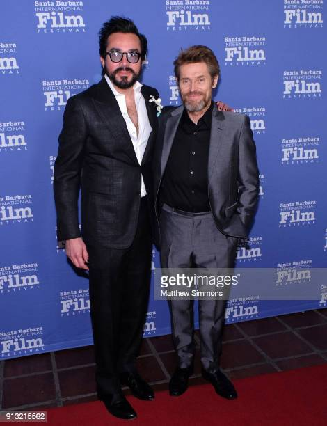 SBIFF executive director Roger Durling and Willem Dafoe at the Cinema Vanguard Award Honoring Willem Dafoe during The 33rd Santa Barbara...