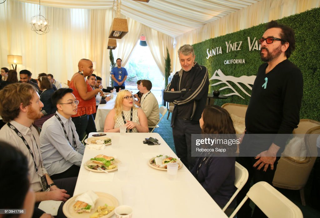 Executive Director Roger Durling (right) at the Film Studies Panel Luncheon during The 33rd Santa Barbara International Film Festival at the Lobero Theatre on February 3, 2018 in Santa Barbara, California.