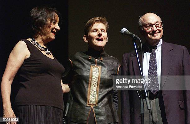 LOCA Executive Director Ruth Eliel gives a speech at the 15th Anniversary of the Los Angeles Chamber Orchestra's Silent Film Festival on June 5 2004...