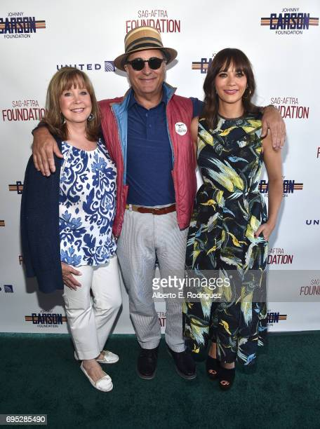 Executive director SAGAFTRA Foundation Cyd Wilson actor Andy Garcia and actor Rashida Jones attend the SAGAFTRA Foundation 8th Annual LA Golf Classic...