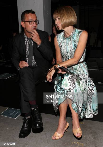 Executive Director Steven Kolb and EditorinChief of American Vogue Anna Wintour attend the Rag Bone Spring 2012 fashion show during MercedesBenz...