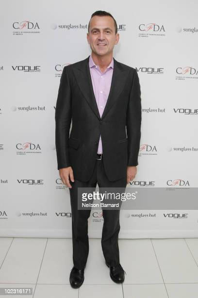 CFDA executive director Steven Kolb attends the launch party for the Vogue Eyewear / CFDA Capsule Collection at Sunglass Hut Flagship on 5th Avenue...