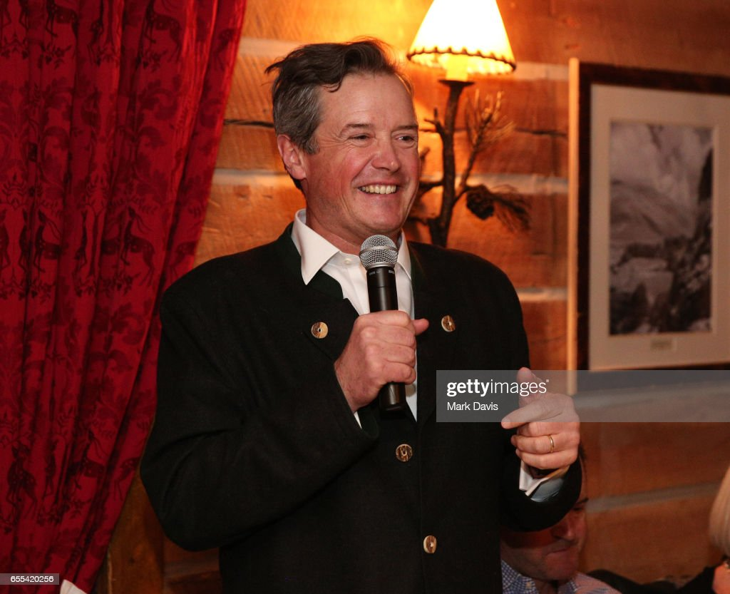 Executive Director Sun Valley Film festival Teddy Grennan speaks to the audience during the 2017 Sun Valley Film Festival 'Pioneer Award Dinner' on March 18, 2017 in Sun Valley, Idaho.