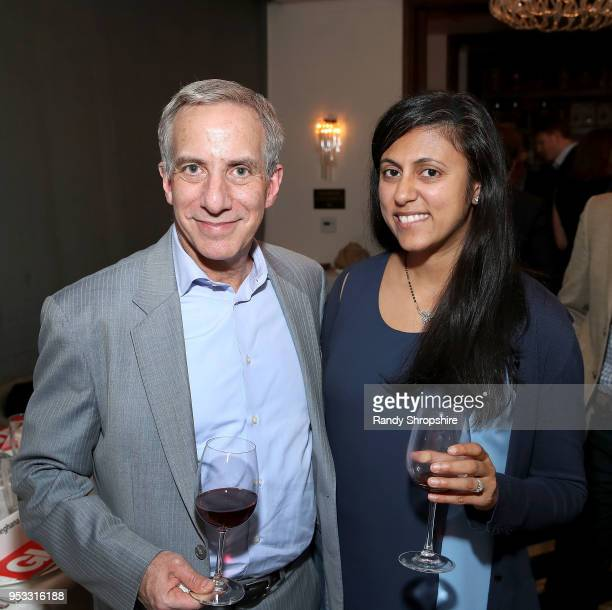 Executive Editor at STAT's Rick Berke and reporter Meghana Keshavan attend GLG Social Impact Dinner At Milken at Cecconi's on April 30 2018 in West...