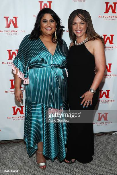 Executive Editor at Teen Vogue Samhita Mukhopadhyay and Melissa HarrisPerry attend the Ms Foundation 30th Annual Gloria Awards at Capitale on May 3...