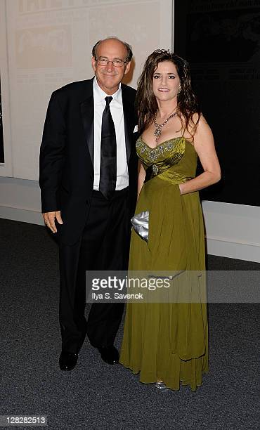 Executive Editor National Enquirer Barry Levine and Maria Elena Tierno attend the Warhol Headlines exhibition opening in the East Building at the...