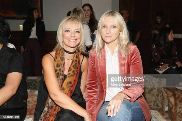 Executive fashion and beauty editor of Harpers Bazaar Avril Graham and editorinchief of InStyle Magazine Laura Brown attend the Sachin Babi fashion...