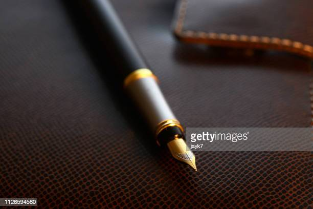 executive fountain pen - fountain pen stock pictures, royalty-free photos & images