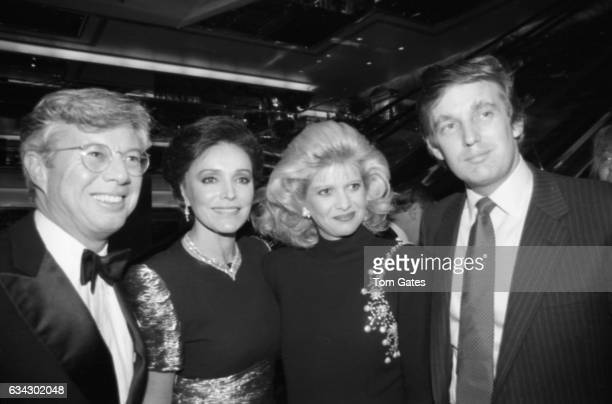 TV executive Gary Pudney Joanna Carson businessman Donald Trump and his wife Ivana Trump at Trump Tower's Harry Winston Salon for the book 'Circle of...