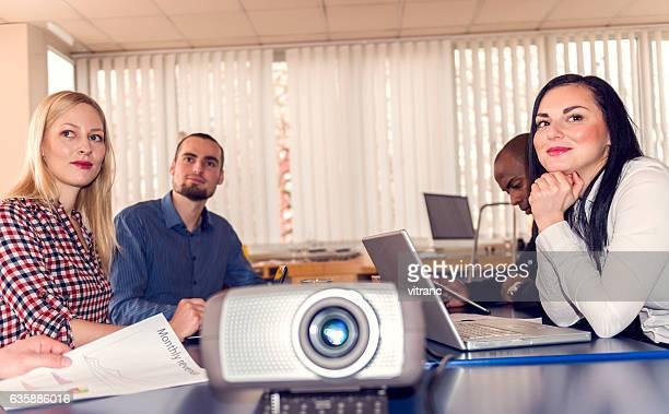 Executive eine Präsentation