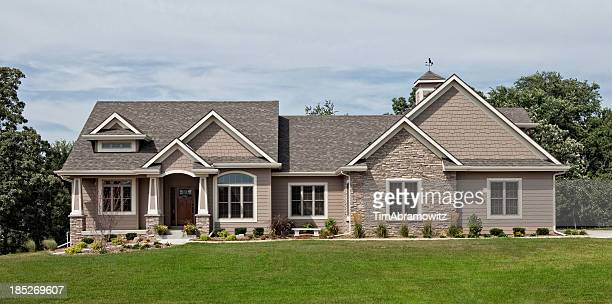 executive home - house exterior stock pictures, royalty-free photos & images