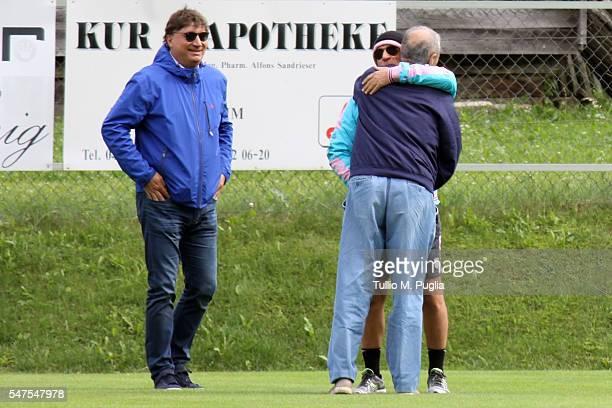 Executive Manager Angelo Baiguera, President Maurizio Zampariniand Head Coach Davide Ballardini look on at Sportarena, US Citta' di Palermo training...
