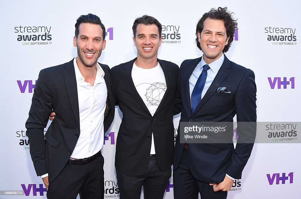 Executive Producer, 5th Annual Streamy Awards, Assaf Blecher , President of Dick Clark Media Michael Mahan and Streamy Awards Founder, Drew Baldwin attend VH1's 5th Annual Streamy Awards at the Hollywood Palladium on Thursday, September 17, 2015 in Los Angeles, California.