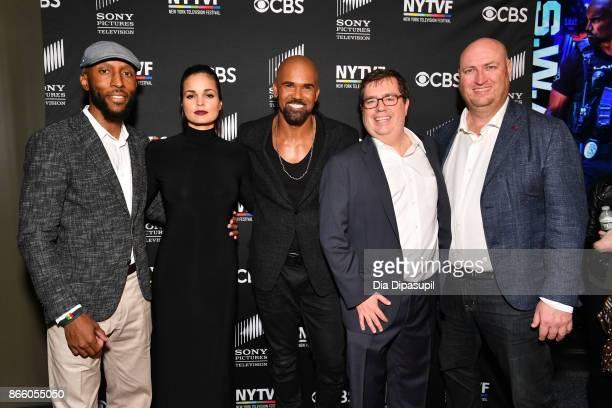 Executive producer Aaron Rahsaan Thomas, Lina Esco, Shemar Moore, NYTVF founder/executive director Terence Gray, and executive producer Shawn Ryan...