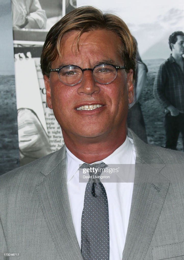 Executive producer Aaron Sorkin attends the premiere of HBO's 'The Newsroom' Season 2 at the Paramount Theater on the Paramount Studios lot on July 10, 2013 in Hollywood, California.