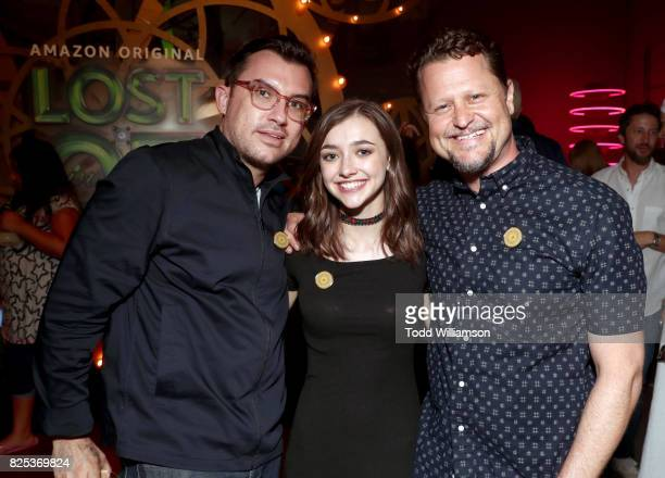Executive producer Abram Makowka Ashley Boettcher and executive producer Mark Warshaw attend Amazon Studios' premiere for Lost In Oz at NeueHouse Los...