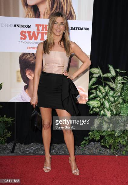Executive Producer/ Actress Jennifer Aniston arrives to the Los Angeles Premiere of 'The Switch' held at ArcLight Cinemas on August 16 2010 in...