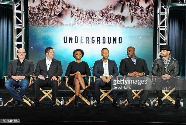 Executive producer Akiva Goldsman creators/writers/executive producers Joe Pokaski and Misha Green executive producers John Legend and Mike Jackson...
