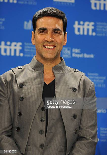 Executive Producer Akshay Kumar speaks onstage at 'Breakaway' Press Conference during the 2011 Toronto International Film Festival at TIFF Bell...