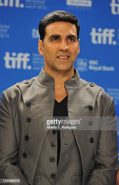 Executive Producer Akshay Kumar speaks onstage at Breakaway Press Conference during the 2011 Toronto International Film Festival at TIFF Bell...