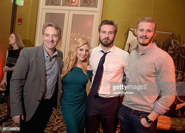 Executive Producer Alan Gasmer and actors Katheryn Winnick Clive Standen and Alexander Ludwig attend the JAN 2015 TCA History Vikings Party on...