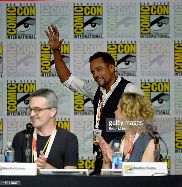 Executive producer Alex Kurtzman actor Hill Harper and executive producer Heather Kadin attend CBS TV Studios' panel for Limitless during ComicCon...