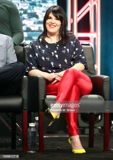 Executive Producer Alexis Martin Woodall of the television show '911' speaks during the FOX segment of the Summer 2018 Television Critics Association...