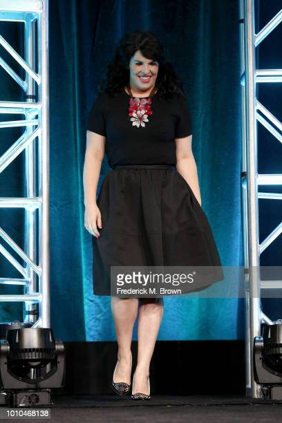 Executive producer Alexis Martin Woodall speaks onstage at the 'American Horror Story Apocalypse' panel during the FX Network portion of the Summer...