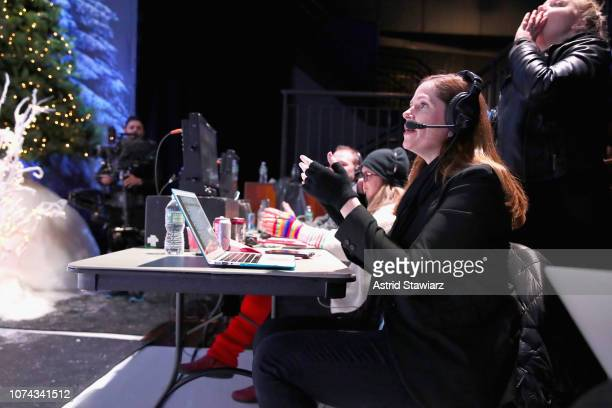 Executive Producer Alison Camillo gives direction during Full Frontal With Samantha Bee Presents Christmas On ICE at PlayStation Theater on December...